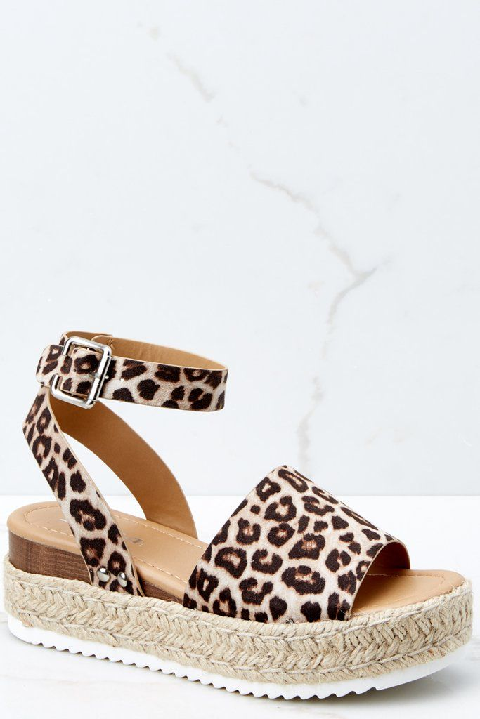 Flatform Sandals | Leopard print wedges