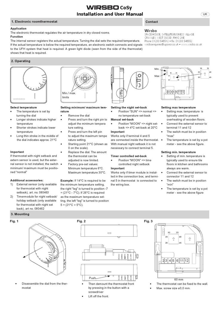 Cosy wired manual Cosy - sample quality manual template