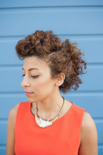 3 DIY styles for curly hair! Photos by Rachelle Manning. -- Glad to see naturally curly hair ideas.