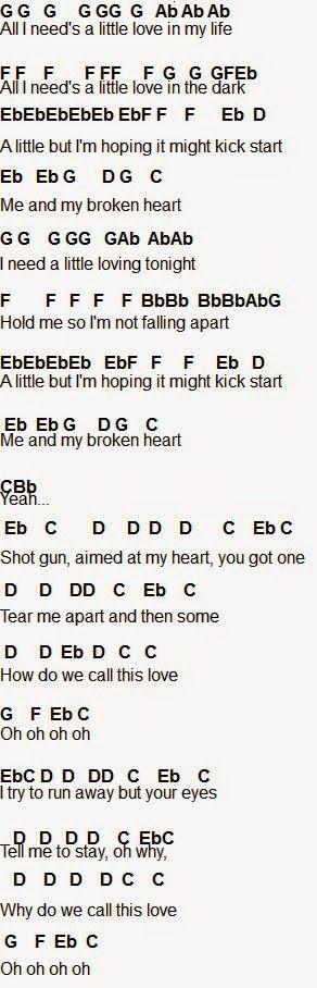 Flute Sheet Music: Me And My Broken Heart