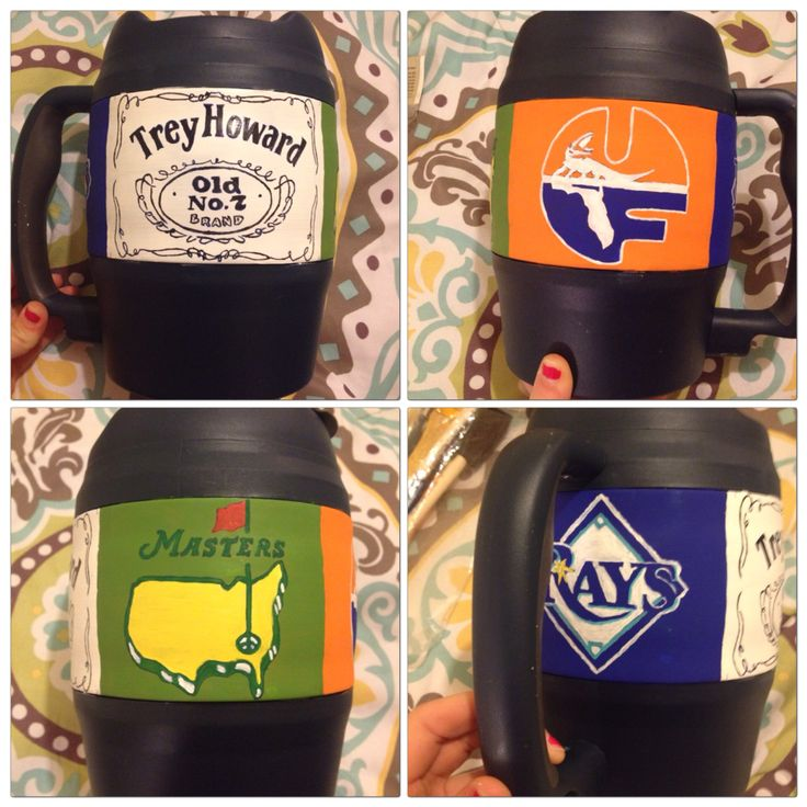 Graduation Bubba Keg for my boyfriend hand painted
