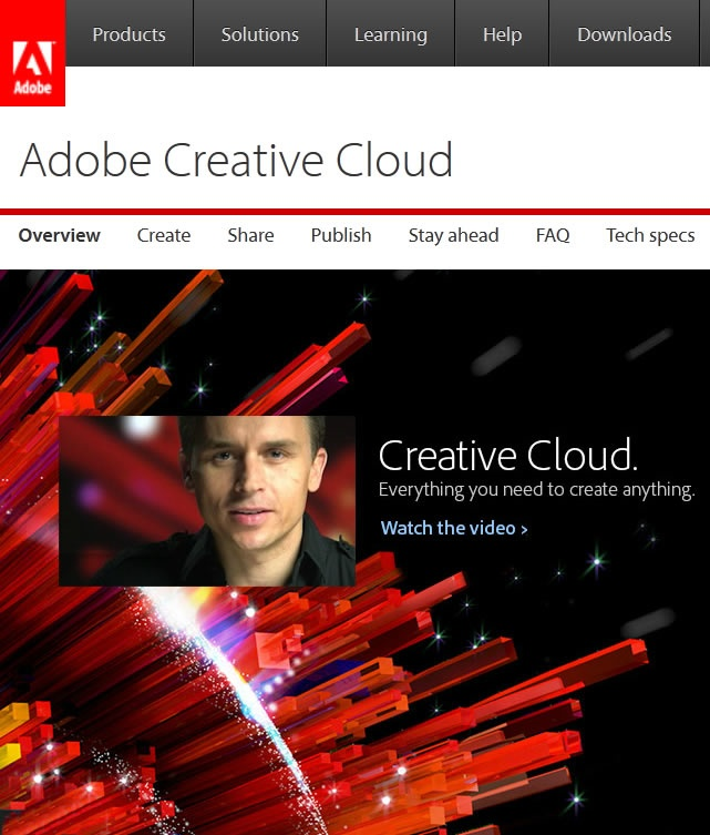 Adobe Creative Cloud - where you can rent the latest software for a monthly fee...