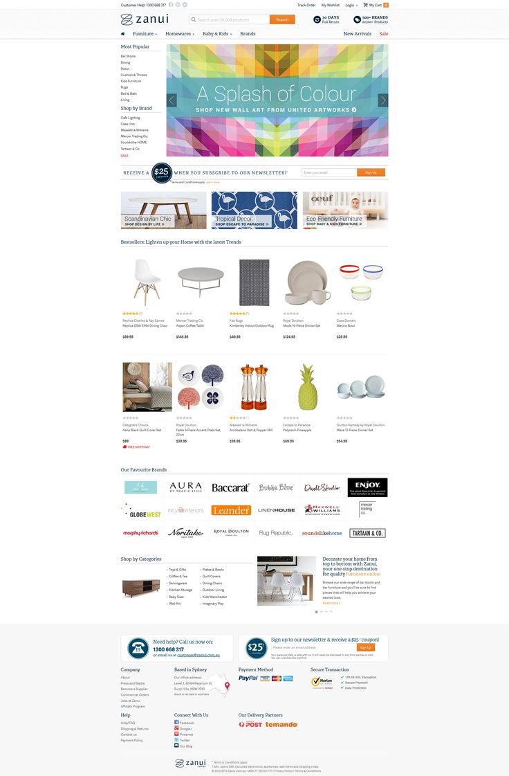 Homewares Ecommerce Design