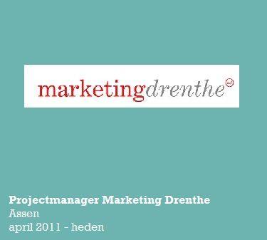 Werkzaamheden: Marketingcommunicatieadvies, ontwikkelen & uitvoeren van marketingcommunicatiemiddelen ter verbetering van het imago van Drenthe. Coördineren van projecten en organiseren van verschillende bijeenkomsten & evenementen. Ontwikkelen en uitvoeren van nieuwe media