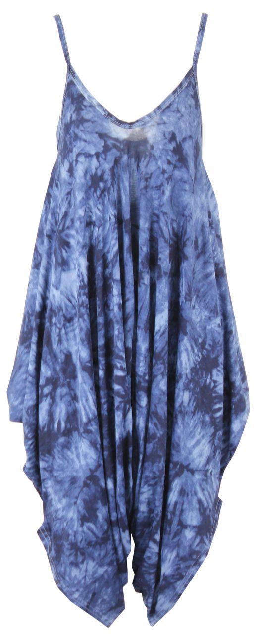 Libra Blue Tie Dye Culotte Jumpsuit