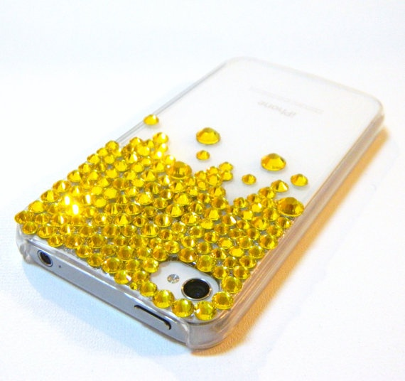 NEON Rhinestone Crystal iPhone 4 iPhone 4s Case by CarleaPink, $69.50