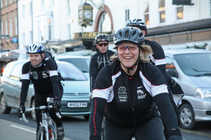 Beth Morris and the Born Silently Cycle Challenge team.