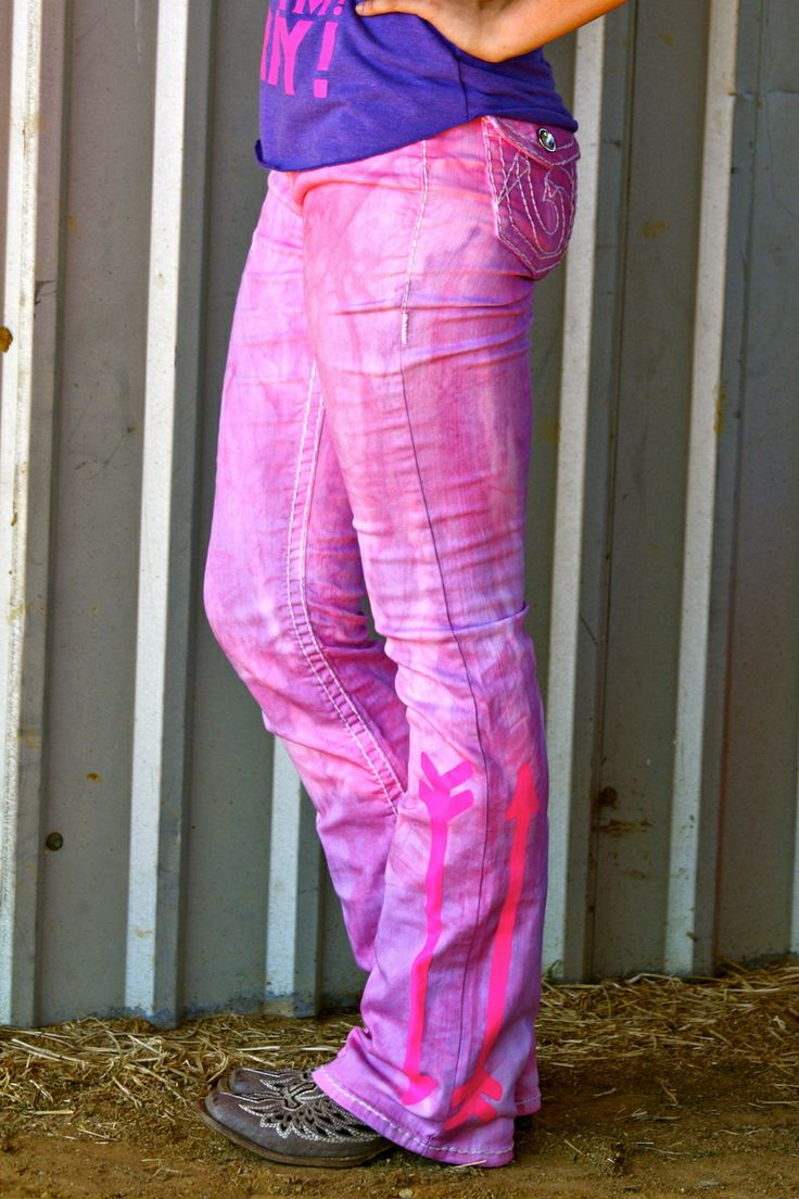 Dynasty Equine - PINK/PURPLE TIE DYE WITH NEON PINK ARROWS, $55.00 (http://stores.ranchdressn.com/pink-purple-tie-dye-with-neon-pink-arrows/)