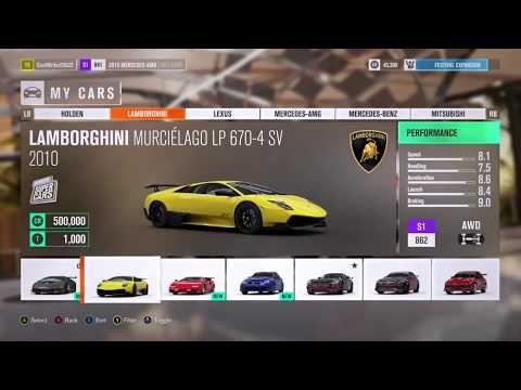 Youtube Forza Horizon 3 All Cars In My Garage Forza Horizon 3