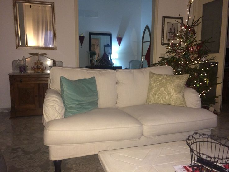 I love my new stocksund couch from ikea for the home for Living room 4 pics 1 word