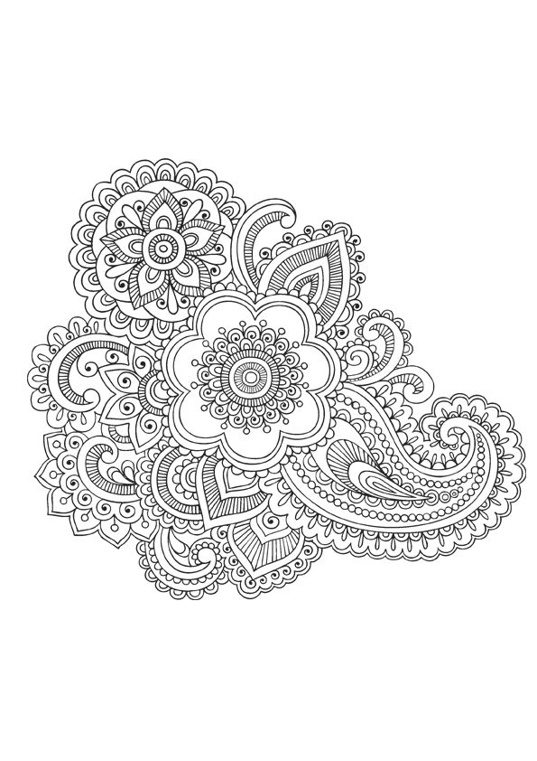 Best 25 paisley coloring pages ideas on pinterest paisley color adult coloring pages and - Mandala pour adulte ...