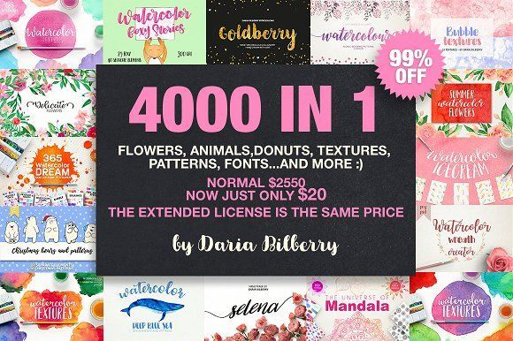 4000 IN 1 GRAPHIC BUNDLE SUPER SALE by Daria Bilberry on @creativemarket