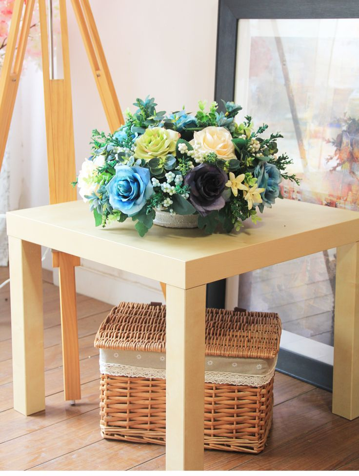 Artificial flowers set round table simulation room decorative floral wedding flower Laird style FREE SHIPPING buy in the store EC Science co Ltd. on AliExpress
