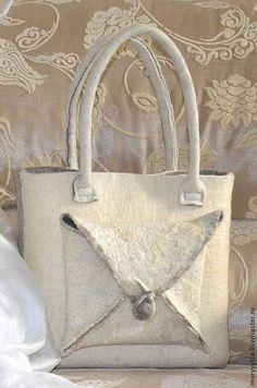 """Купить сумка """"оригами """" - Мокрое валяние, Валяние, сумка, сумка ручной работы"""