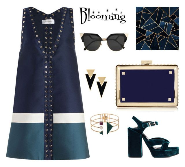 """Midnight"" by kseniavarlamova on Polyvore featuring мода, Zimmermann, Jil Sander, Valentino, Fendi, Yves Saint Laurent и Eshvi"