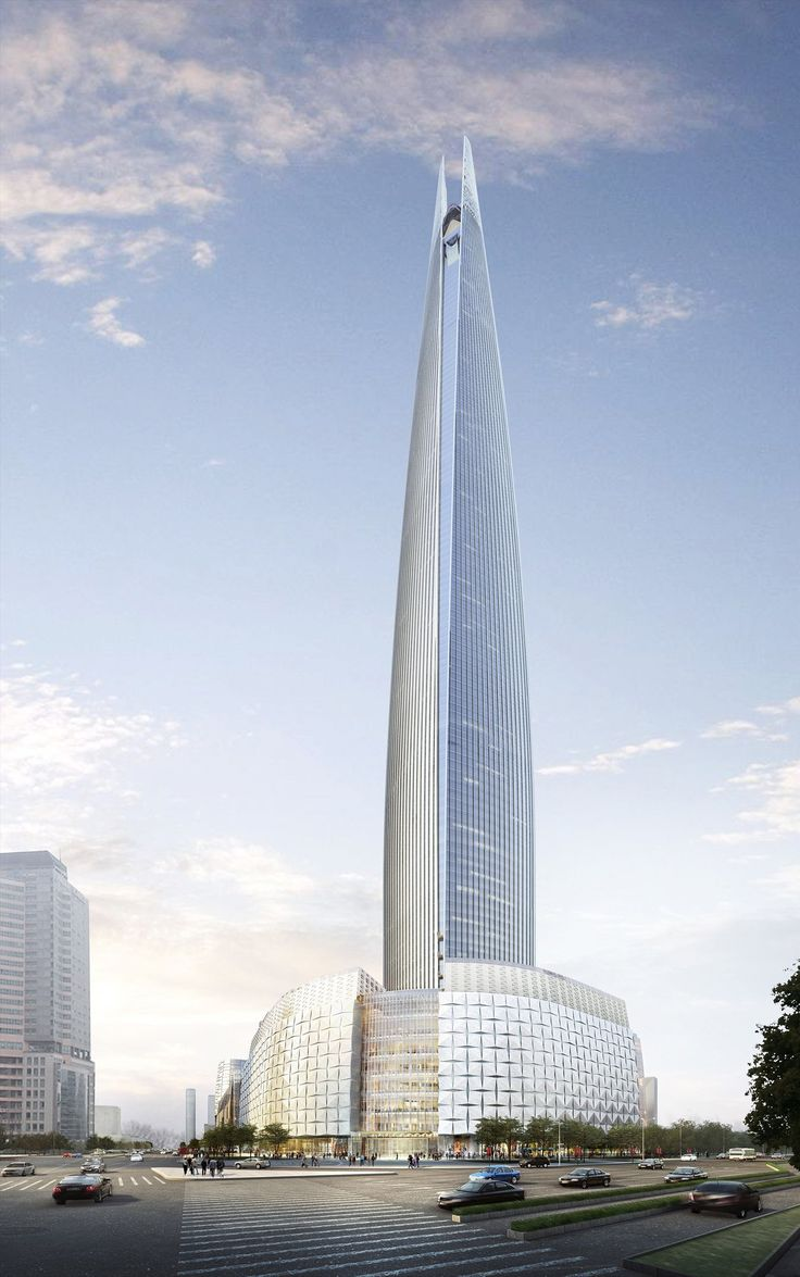 Lotte World Tower Seoul South Korea Modern Architecture Concept