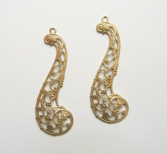 Brass Filigree Raw Brass Stamping Filigree by DecadentBrassGlass