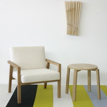 Kantti armchair and side table by Deka Design