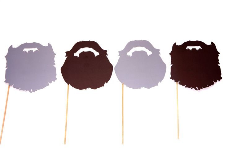 Duck Dynasty Beards - Beard on a stick props - Birthdays, Weddings, Parties - Set of 4 Photo Booth Props. $14.00, via Etsy.