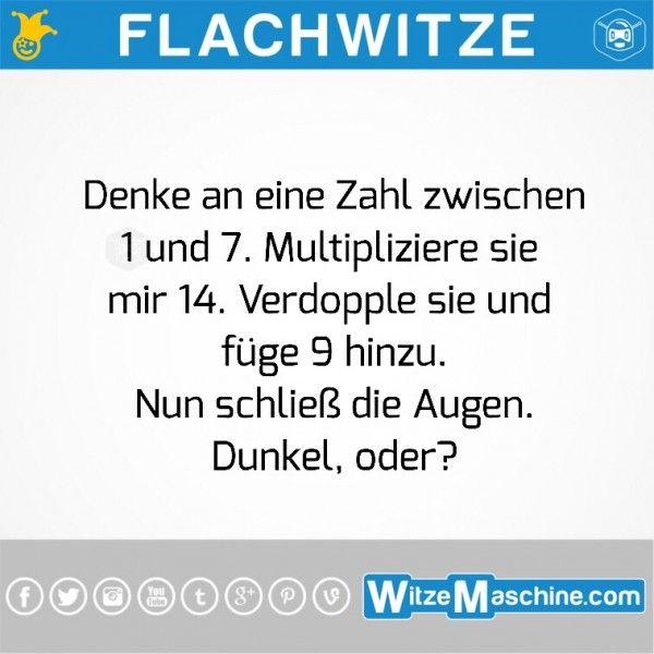 Flachwitze #191 - Lustiges Matherätsel