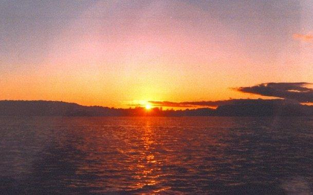 Golden Sunset in Gore Bay
