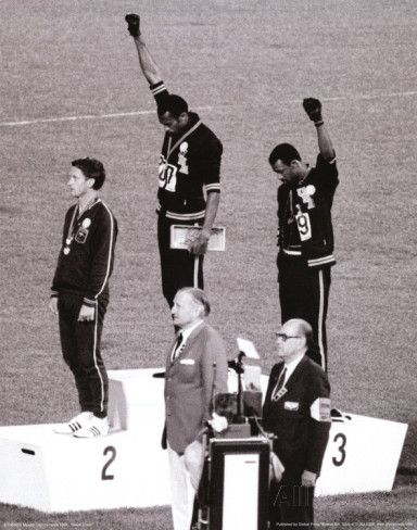Wrong dimensions ;-/ Black Power (Tommie Smith & John Carlos, Olympics, 1968) Photo Print Poster Masterprint at AllPosters.com