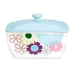 Portmeirion - Multicoloured 'Crazy Daisy' butter dish
