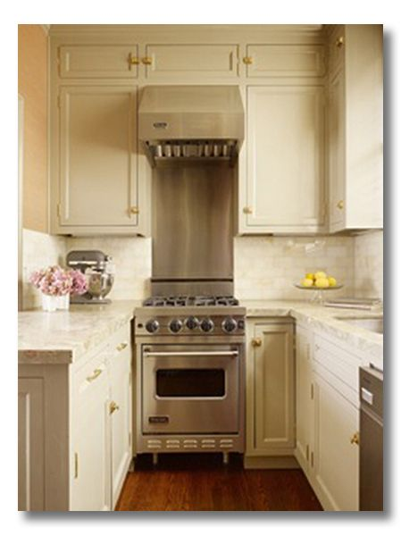 tyler dawson. great inspiration for a tiny kitchen. Good idea for tiny space in cottage or cabin