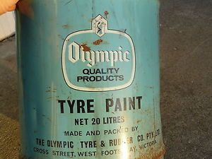 Vintage-Olympic-tyre-paint-tin-not-oil-PICK-UP-IPSWICH