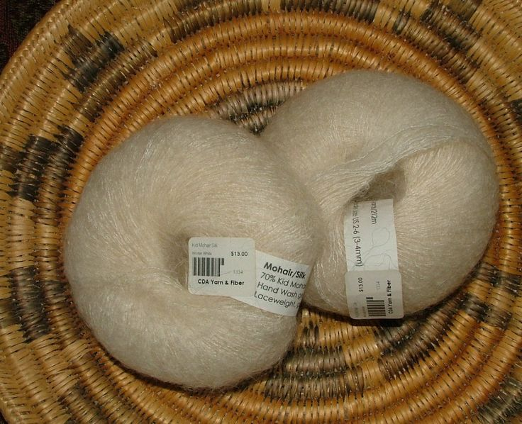 Kid Mohair Silk 25g Approximately 230 yds Lace Weight Natural Off White Winter White Crochet Knit by 3CsTwistedStitchers on Etsy