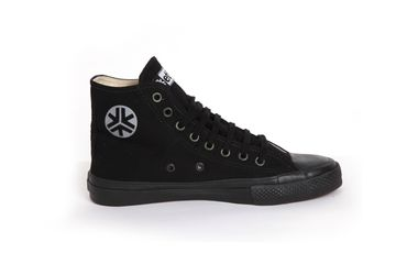 All Black Hitops (Kids) - Fair Trade Shop. 'They may look similar to a well-known brand but these bad boys are radically different. Read more on our website.' #shoes #sneakers #fairtrade #kids