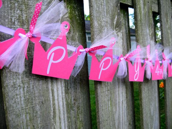Cute idea using tulle.  Combine this with the  custom banners that can be printed at http://activitiesforkids.com/custom-banners/