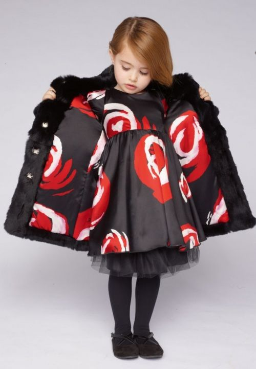 Love this dress and coat--perfect for Christmas parties!