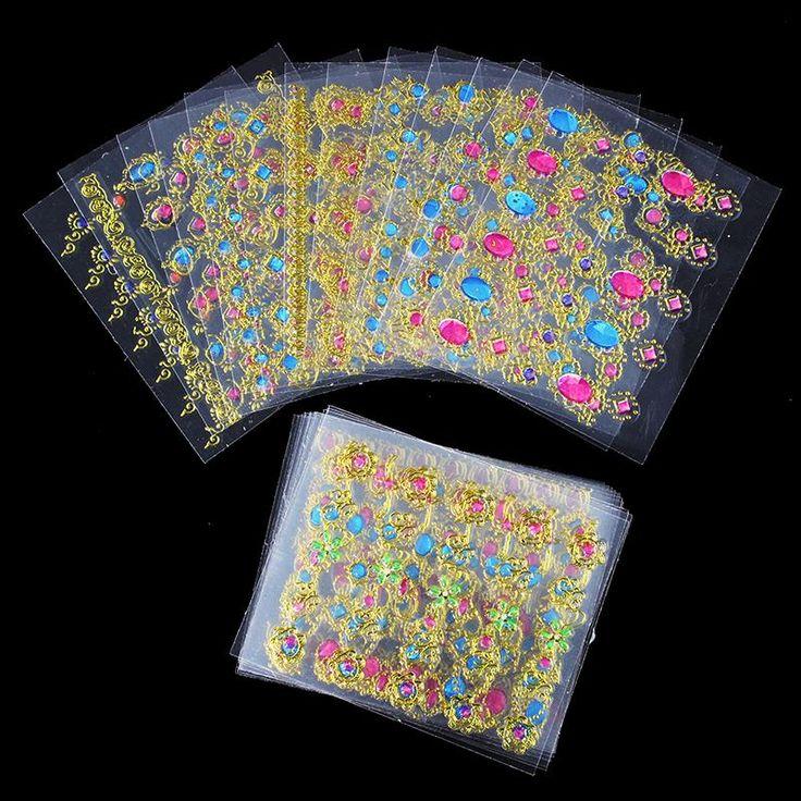 24 pz/lotto bellezza 3d bronzing croce disegni nail art stickers manicure stampaggio decalcomanie decorazioni fai da te strumenti per le unghie JH139