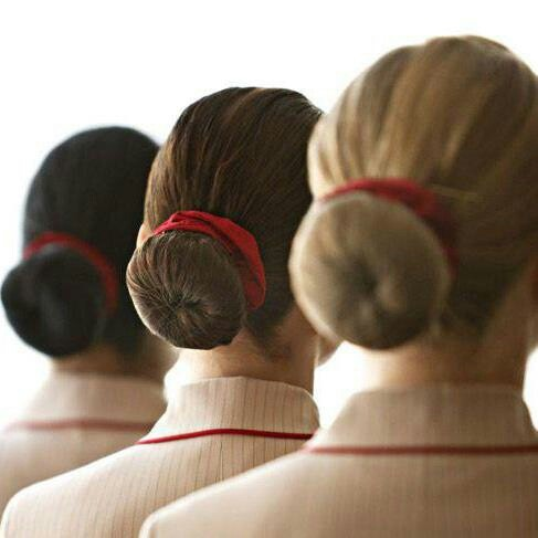 Emirates cabin crew hair style