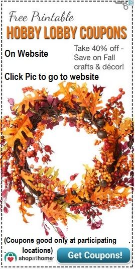 [Click Pic to Get coupons] #HobbyLobby Free Printable #Coupons - 40% Off Fall Crafts &Decor -  TO FIND THE HOBBY LOCATION NEAREST YOU, JUST FOLLOW THIS LINK > http://www.hobbylobby.com/store-finder ------------------------------------------ #Millennials #Boomers #GenX #Teen @GOP @TheDemocrats #TEAParty #OWS