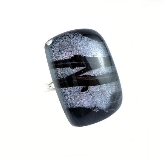 RG15  Exclusive fused dichroic glass ring by VerreArts on Etsy