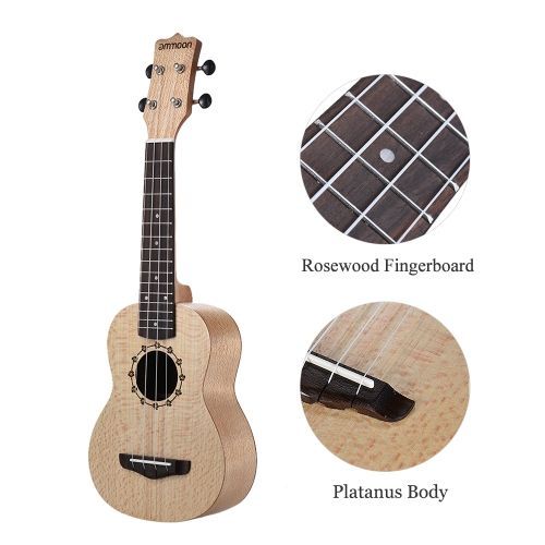 Shop best 1# ammoon Soprano Ukelele 21 inch Platanus Body Rosewood Fingerboard Hawaiian Guitar Ukulele Set with Tuner Bag Strap Extra Nylon String Picks Cleaning Cloth from Tomtop.com at fast shipping. Various discounts are waiting for you!