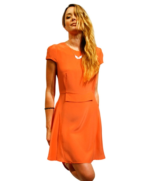 Silk Panel Dress - Coral from Something Else $239