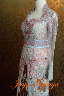 beautiful kebaya modern dress 2016 - peach silver