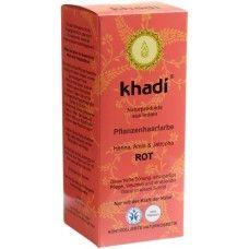 Khadi Растительная Красная краска для волос хна, амла и ятрофа, 100 г