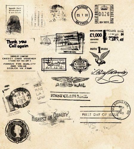 Stamp & Post Mark Photoshop Brushes ... high resolution