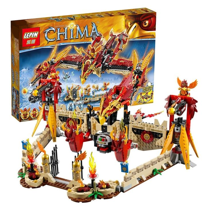 82.88$  Buy now - http://ali3t1.worldwells.pw/go.php?t=32717967597 - Free shipping Lepin 04011 CHIMAed  Flying Phoenix Fire Temple  Minifigures toys building blocks for child Compatibl  70146