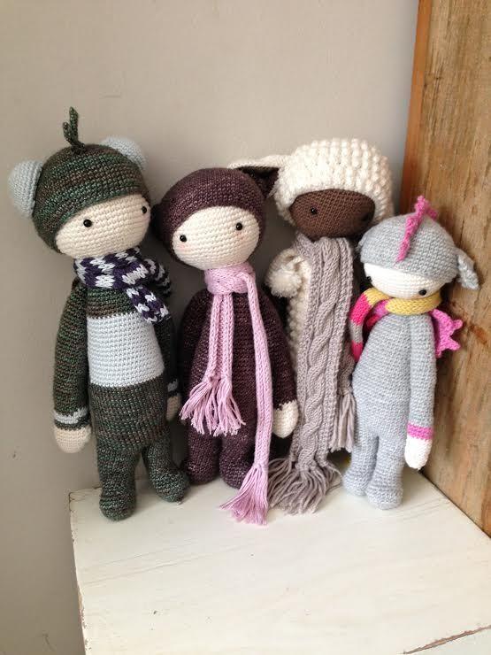 lalylala family made by Jane R. / crochet pattern by lalylala