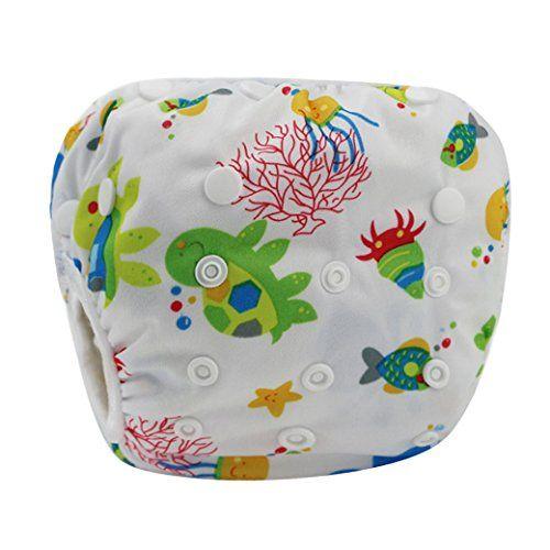 HAPPY CHERRY Maillot de bain Couche Lavable Natation Couches Piscine Sous la Mer pour Bébé Fille Garçon Couches-Culottes Anti-fuite…