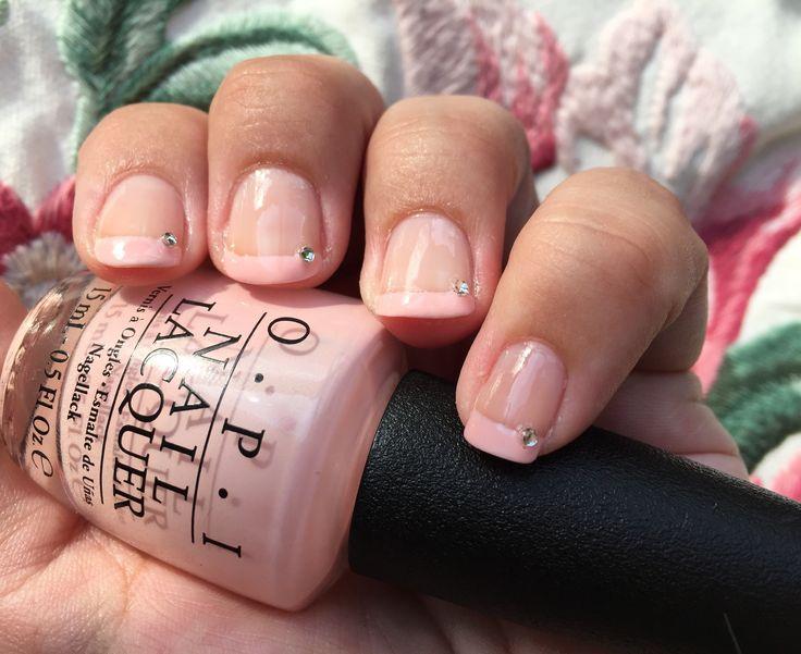 #Babypink #French #Mani #OPI #notd #nail #diamond