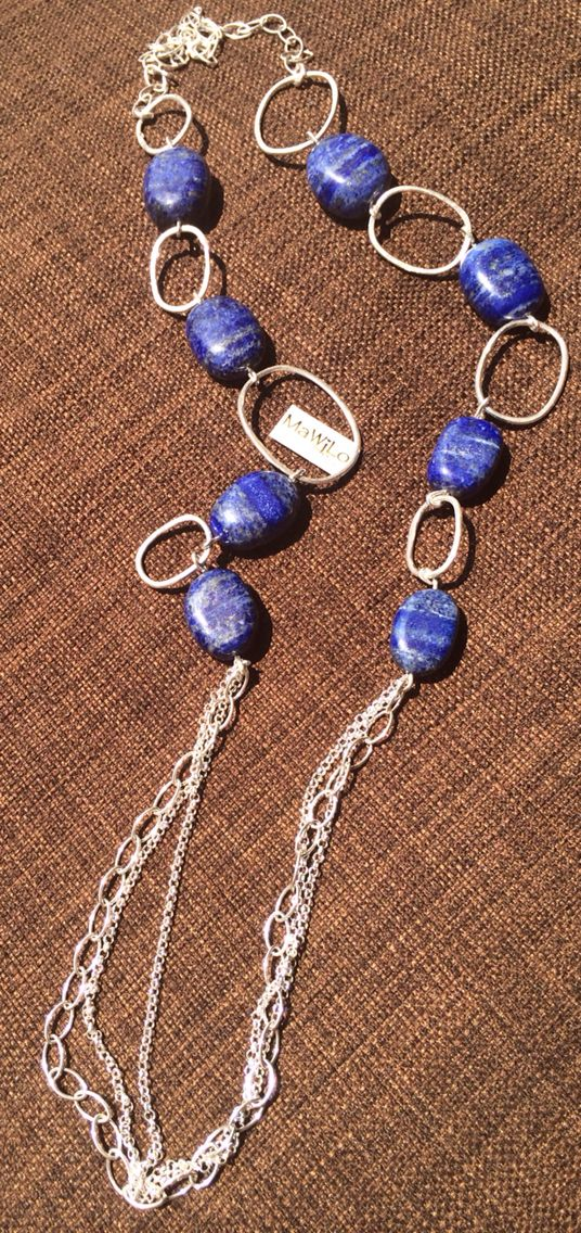 MaWiLo Designs  Sterling silver Lapis stones necklace mawilo.designs@absa.co.za