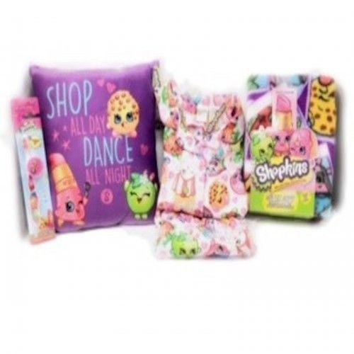 Shopkins Pajamas Bedtime Bundle Includes Pillow and Blanket and Toothbrush New #Shopkins #PajamaSet