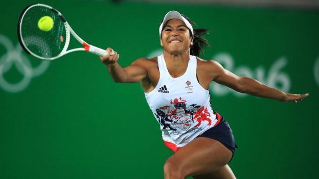 British tennis player Heather Watson