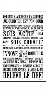 sticker papier - Affiche adhésive - sticker géant - Poster autocollant